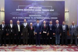 "SAM hosted the International Conference on ""Separatism as a Challenge to International Order"""