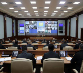 """Defense Minister: """"In the course of the Command-Staff War Games the main attention must be focused on the use of the latest, including space technology"""""""