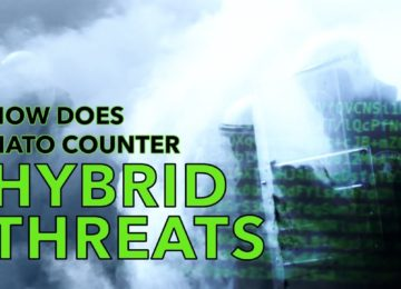 How does NATO counter hybrid threats?
