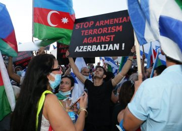 Hundreds of Azerbaijani Jews Demonstrate Against Armenia's Aggression