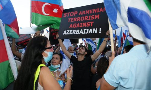 Hundreds Of Azerbaijani Jews Demonstrate Against Armenia S Aggression Baku Network Baku International Policy And Security Network