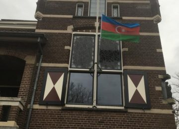 Azerbaijani flag raised in Dutch Oosterwijk city in memory of Baku Network Director (PHOTO)