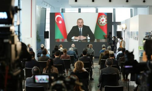 President Aliyev gives press conference for local and foreign media representatives